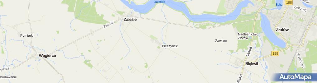 Zdjęcie satelitarne Pieczynek