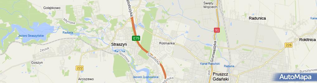 Zdjęcie satelitarne Rotmanka (Gdańsk)