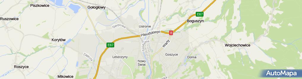 Zdjęcie satelitarne Szpital Powiatowy w Kłodzku
