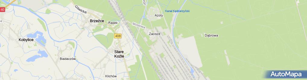 Zdjęcie satelitarne ZAKSA Kędzierzyn-Koźle