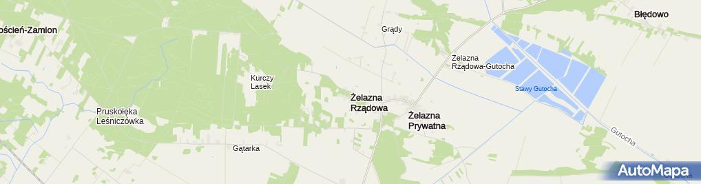 Zdjęcie satelitarne Żelazna Rządowa