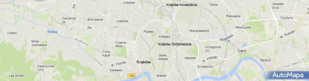 Zdjęcie satelitarne InterRisk Towarzystwo Ubezpieczeń S.A. Vienna Insurance Group Oddział Kraków