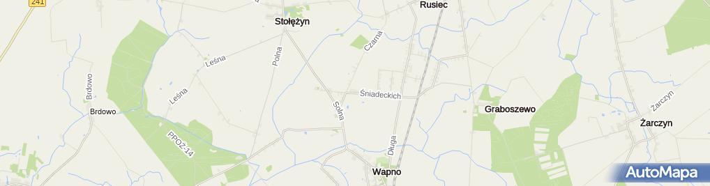 Zdjęcie satelitarne Stajnia Wapno