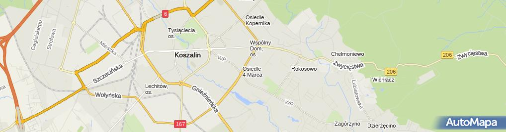 Zdjęcie satelitarne 8 Koszaliński pułk przeciwlotniczy