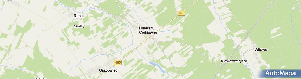 Zdjęcie satelitarne Dom Gościnny