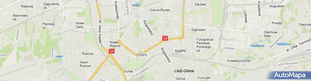 Zdjęcie satelitarne Kebab House