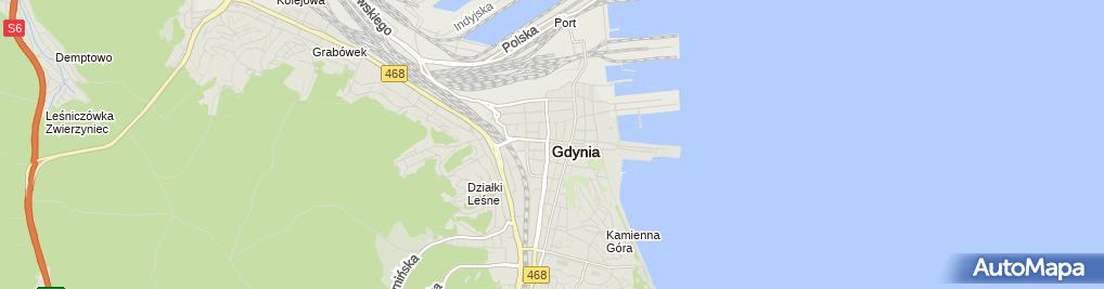 Zdjęcie satelitarne Centrum Komputerowe