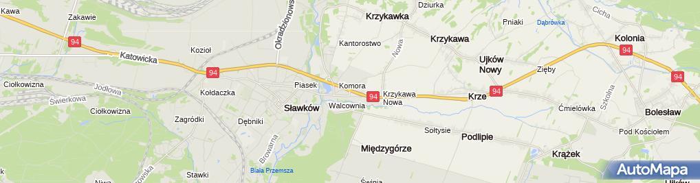 Zdjęcie satelitarne 70km/h
