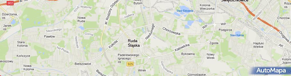 Zdjęcie satelitarne KWK Pokój