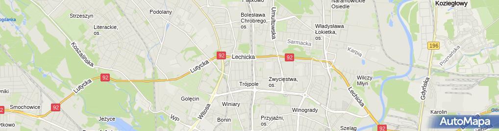 Zdjęcie satelitarne Kręgielnia