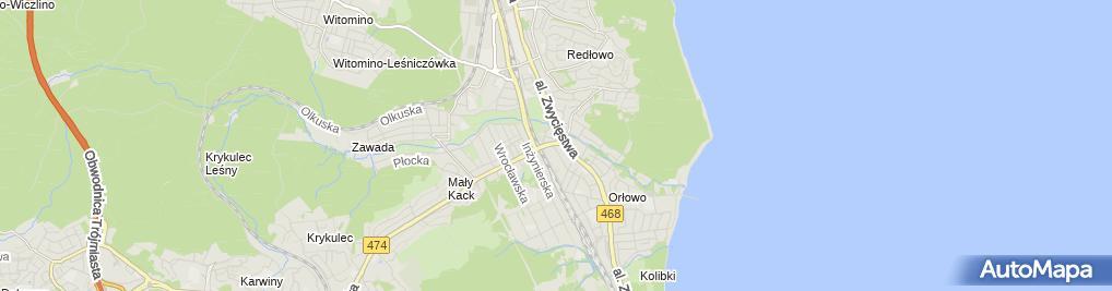 Zdjęcie satelitarne Gdańsk - Orłowo