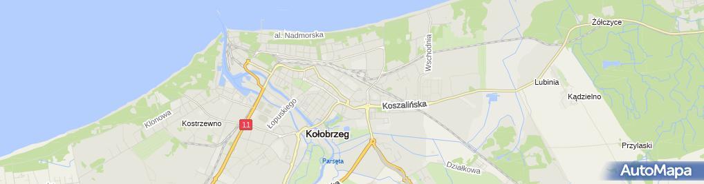 Zdjęcie satelitarne Ośrodek Medycyny Pracy dr n. Piotr Kłos