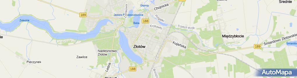 Zdjęcie satelitarne I LO im. Marii Skłodowskiej-Curie