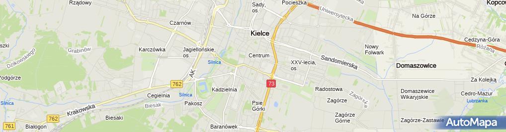 Zdjęcie satelitarne II LO im. Jędrzeja Śniadeckiego