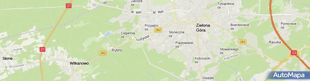 Zdjęcie satelitarne V LO im Krzysztofa Kieślowskiego