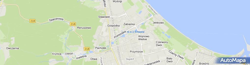 Zdjęcie satelitarne CM Medycyna Rodzinna