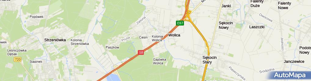 Zdjęcie satelitarne Autoryzowany dealer i serwis EvoBus Polska Sp. z o.o.