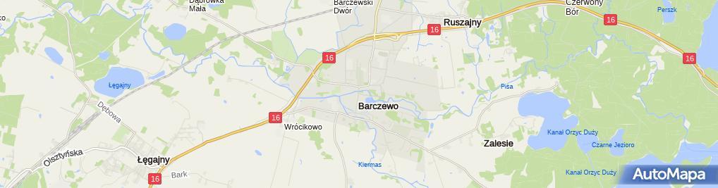 Zdjęcie satelitarne Muzeum Feliksa Nowowiejskiego