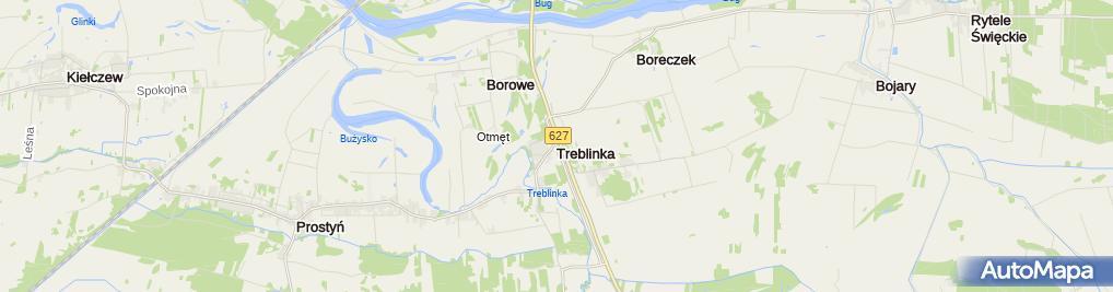 Zdjęcie satelitarne Treblinka Obóz Zagłady - Muzeum Walki i Męczeństwa