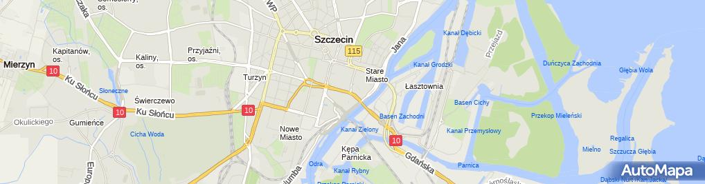 Zdjęcie satelitarne Sklep myśliwski