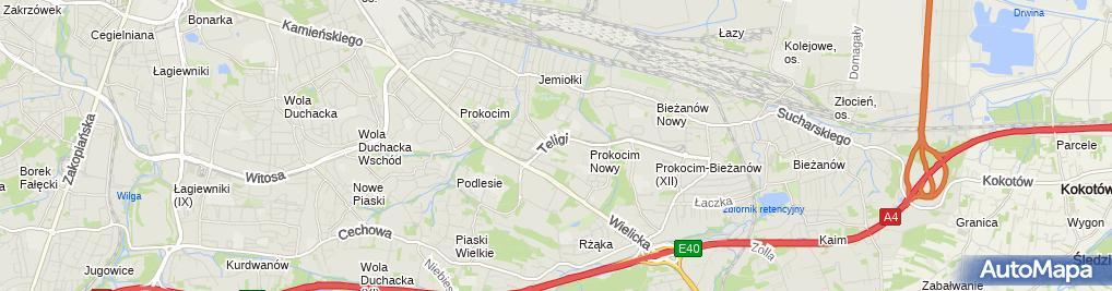 Zdjęcie satelitarne Punkt Informacyjny - Małopolski NFZ