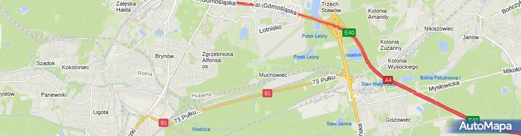 Zdjęcie satelitarne Katowicki Klub Jeździecki