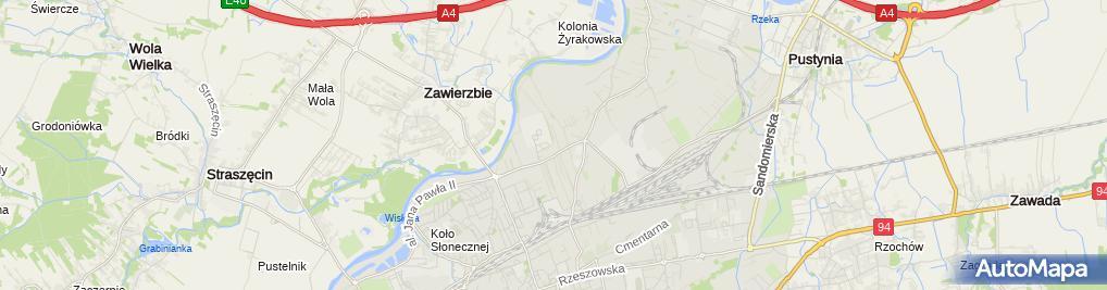 Zdjęcie satelitarne Wodociągi Dębickie
