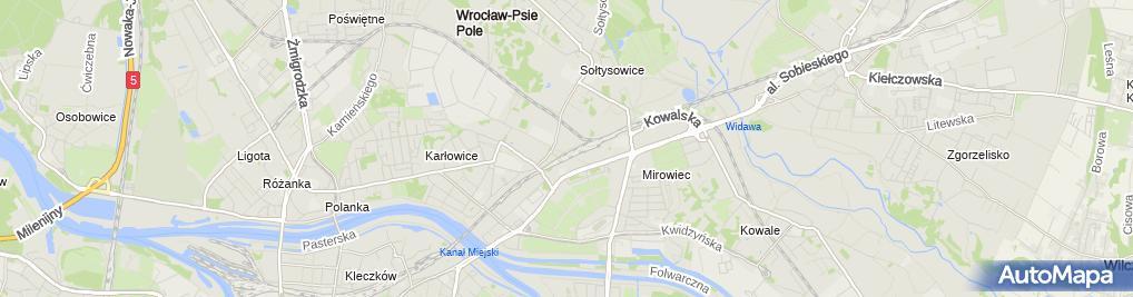 Zdjęcie satelitarne Skarbek - hurtownia papiernicza