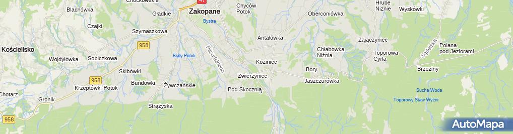 Zdjęcie satelitarne O.W. Sfinks Chrobak Wanda