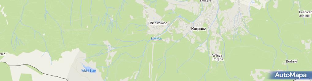 Zdjęcie satelitarne Wyciąg na Kopę