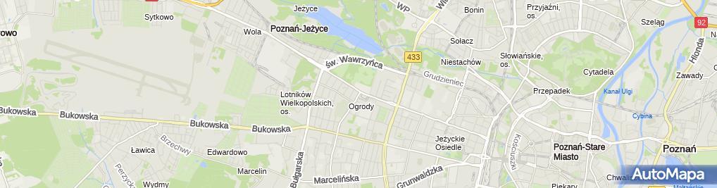 Zdjęcie satelitarne UP Poznań 37