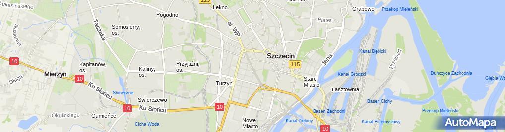 Zdjęcie satelitarne UP Szczecin 34