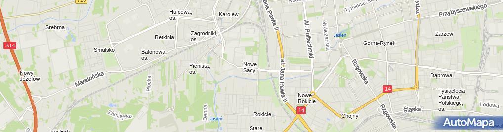 Zdjęcie satelitarne Urząd Pocztowy Łódź 71