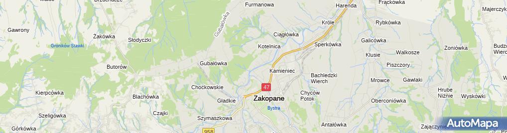 Zdjęcie satelitarne Mróz Krystyna