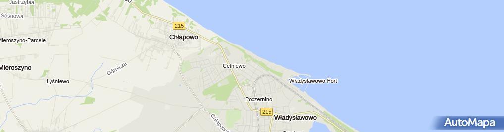 Zdjęcie satelitarne Pokoje gościnne Albatros