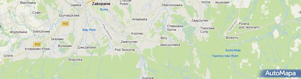 Zdjęcie satelitarne Pokoje gościnne Marzanna Bubka