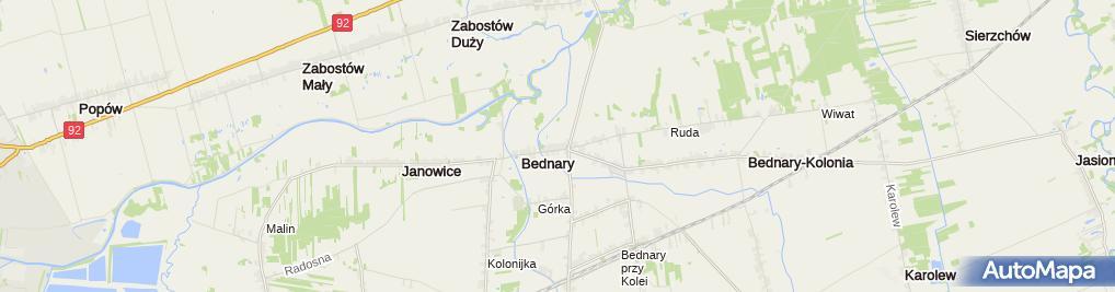 Zdjęcie satelitarne Karczma Bednarska