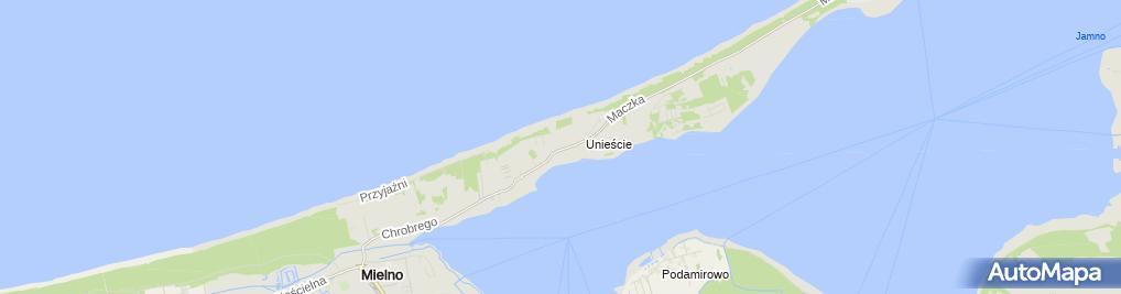 Zdjęcie satelitarne Gminny Ośrodek Pomocy Społecznej w Mielnie-Unieściu