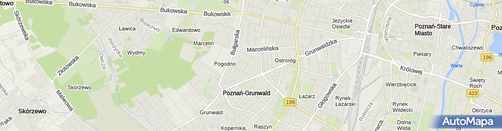 Zdjęcie satelitarne Miejski Ośrodek Pomocy Społecznej