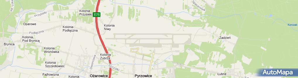 Zdjęcie satelitarne Port lotniczy Katowice-Pyrzowice