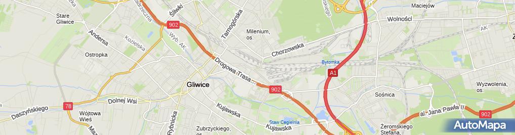 Zdjęcie satelitarne PKP Energetyka Zakład Śląski