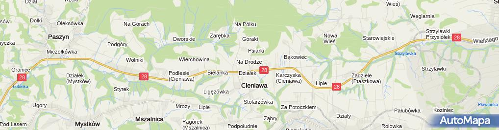 Zdjęcie satelitarne Stelmach Cieniawa /zakład betoniarski/