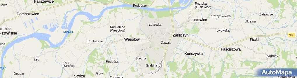Zdjęcie satelitarne Ochronka