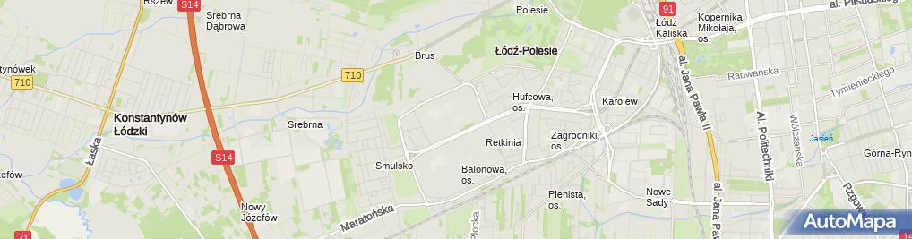 Zdjęcie satelitarne Przedszkole miejskie nr 55