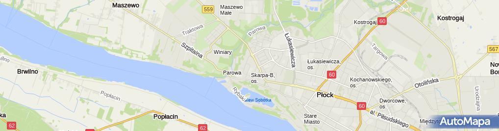 Zdjęcie satelitarne NZOZ Centrum Medyczne Omega Sp. z o.o.