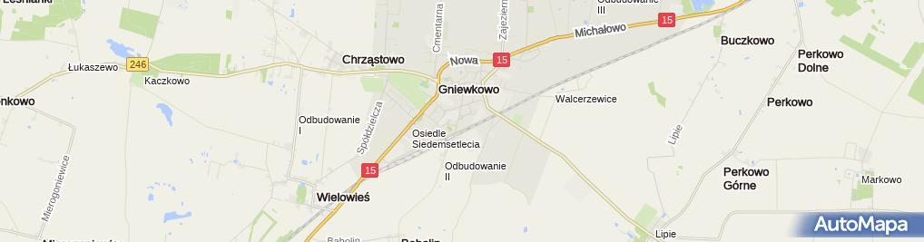 Zdjęcie satelitarne NZOZ Eskulap