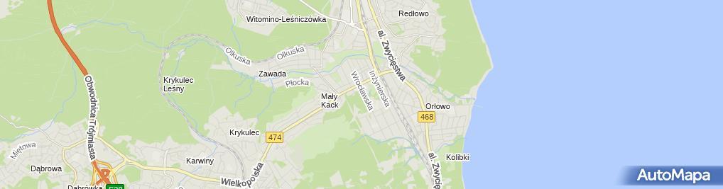 Zdjęcie satelitarne Przychodnia Orłowo