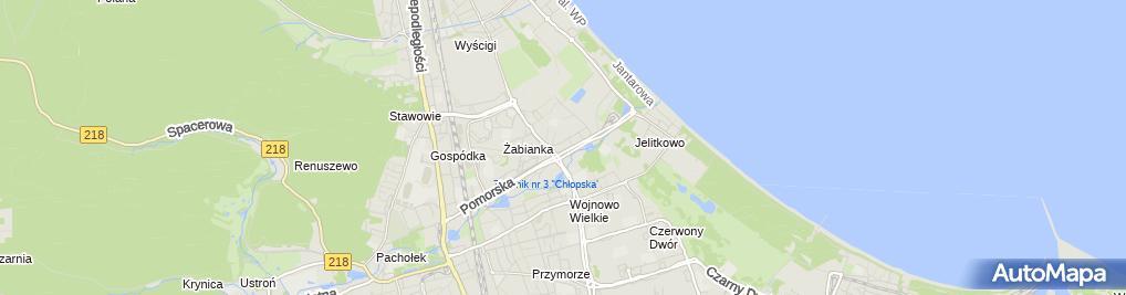 Zdjęcie satelitarne Wojewódzka Poradnia Leczenia Zeza i Niedowidzenia