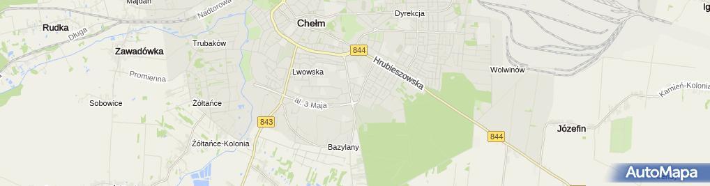 Zdjęcie satelitarne Tuzinek