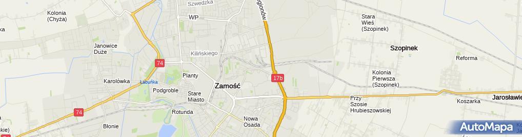 Zdjęcie satelitarne Auto-Myjnia-Bar